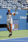 Fourteen times Grand Slam Champion Rafael Nadal of Spain practices for US Open 2015 — Stock Photo