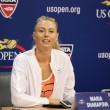 Постер, плакат: Five times Grand Slam Champion Maria Sharapova during press conference before US Open 2015