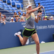 Постер, плакат: Five times Grand Slam Champion Maria Sharapova practices for US Open 2015 at National Tennis Center