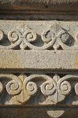 Floral Stone carving at Sangameshwar Temple near Saswad, Maharas — ストック写真