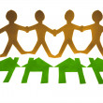 Paper Men Chain, Go Green Concept — Stock Photo #57875625