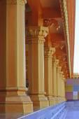 Designed Pillars at Shrinath Mhaskoba Temple, Kodit, Sasvad, Mah — Stock Photo