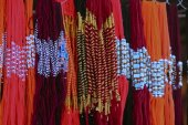 Traditional necklaces in a Market — Stock Photo