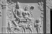 Sculpture of Lord Shiva-Parvati — Stock Photo