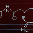 Drawing Chemical Formula On Chalkboard — Stock Photo #58145451