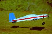 RC model airplane take off — Stock fotografie