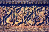 Floral Stone carving at Sangameshwar Temple near Saswad, Maharas — Stock Photo