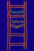 Success failure ladder concept — Stock Photo