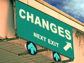 A Notice Board On A National Highway Showing Changes Next Exit, — Stockfoto