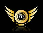 Vip badges with wing — Stockvektor