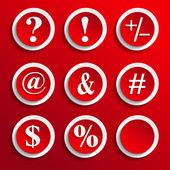 Keybord symbol in red — Vettoriale Stock