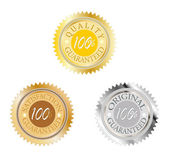 Vector set of 100 percent guarantee — Stockvector