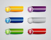 Horizontal colorful options banners buttons — Vector de stock