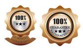 Guarantee Satisfaction bronze — Stock Vector