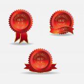Best guarantee label — Vetor de Stock