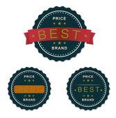 Best price brand guarantee — Vetor de Stock