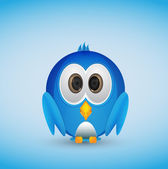Cute blue bird — Stok Vektör