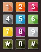 图标编号电话拨号 — 图库矢量图片