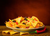 Still life with nachos — Stock Photo