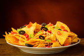Nachos on a plate — Stock Photo