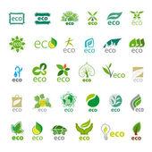Biggest collection of vector logos eco  — Stock Vector