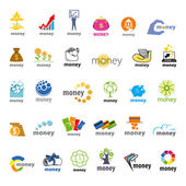 Biggest collection of vector logos money, finance — Stock Vector