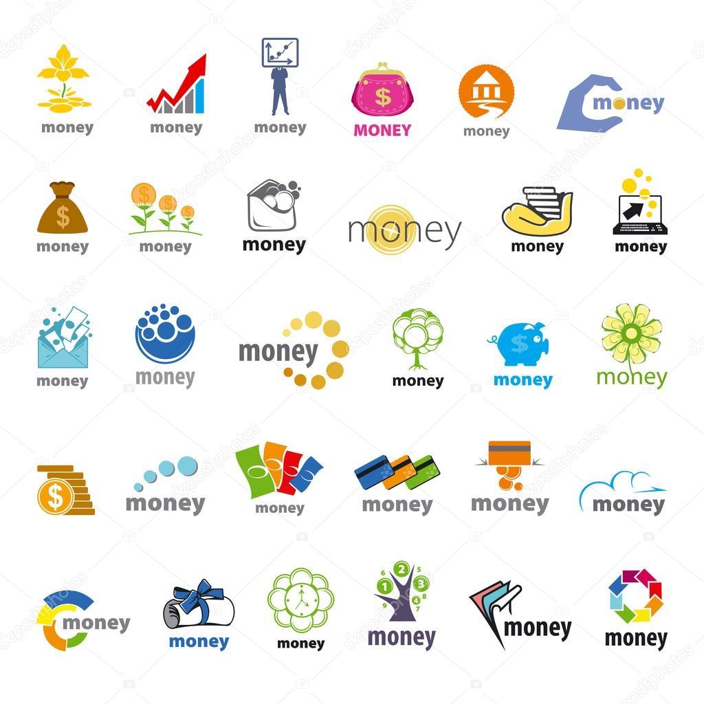 colecci243n m225s grande de dinero vector logotipos finanzas