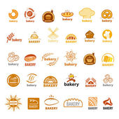 Biggest collection of vector logos bakery  — Stock Vector