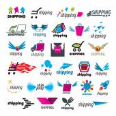 Biggest collection of vector logos of shipping — Stock Vector