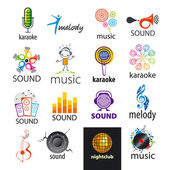 Set of vector logos music and sounds — Stock Vector