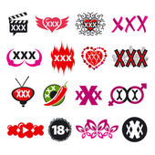 Biggest collection of vector logos xxx — Stock Vector