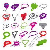 Biggest collection of vector bubbles and ribbon — Stock Vector
