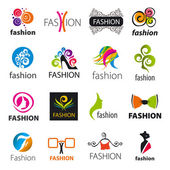 Biggest collection of vector logos fashion — Stock Vector