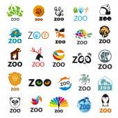 Big set of vector logos zoo — Stock Vector