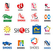 Biggest collection of vector logos shoes — Stock Vector