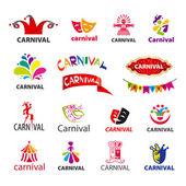 Big set of vector logos carnival — Vettoriale Stock