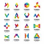Set of vector logos abstract modules — Stock Vector