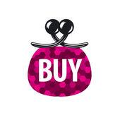 Vectoriel logo rouge sac à main pour acheter — Vecteur