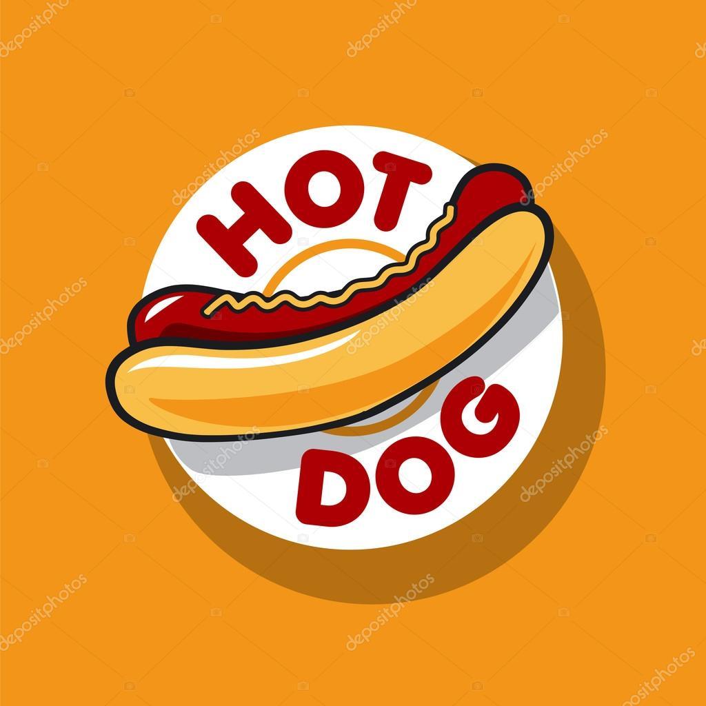 Fast Food Hot Dog Logo