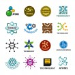 Biggest collection of vector logos technology and atoms — Stock Vector #69999307
