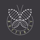Vector logo abstract tech butterfly — Stock Vector