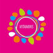 Векторный логотип Абстрактные цветные витамины — Cтоковый вектор