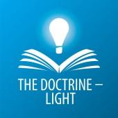 Vector logo lamp illuminates book — Stock Vector