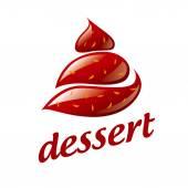 Vector logo chocolate ice cream — Stock Vector