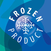 Round vector logo for frozen products — Stock Vector