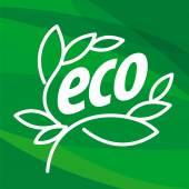 Soyut Eko vektör logo bitkiler şeklinde — Stok Vektör