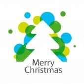 Vector logo abstract Christmas tree — Stock Vector