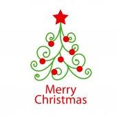 Vector logo decorative Christmas tree — Stock Vector