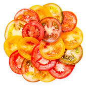 Abstract Background of Healthy natural food  colorful Tomato Sli — Stock Photo