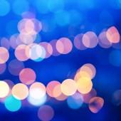 Ciudad hermosa desenfoque luces abstractas bokeh circular azul nuevo — Foto de Stock